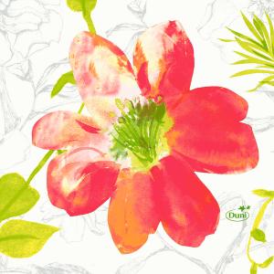 Serviette, Zelltuch, Summertime Red, 24 x 24 cm