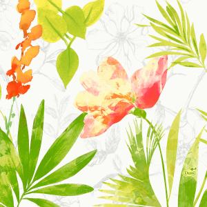 Serviette, Zelltuch, Summertime Red, 33 x 33 cm