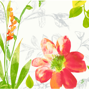 Serviette, Dunisoft, Summertime Red, 40 x 40 cm