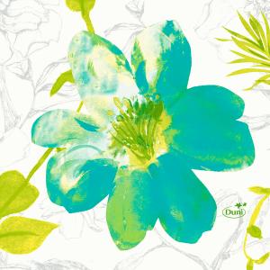 Serviette, Zelltuch, Summertime Blue, 24 x 24 cm