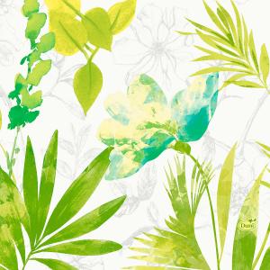 Serviette, Zelltuch, Summertime Blue, 33 x 33 cm