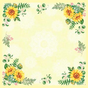 Serviette, Zelltuch, Sunflower, 33 x 33 cm