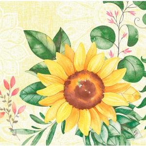Serviette, Dunisoft, Sunflower, 40 x 40 cm