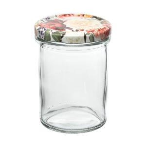 """Einkochglas mit Deckel, Inhalt: 230 ml, """"Rose"""""""