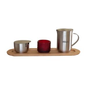 """Edelstahlkännchen Serve Coffee doppelwandig, mit Gravur """"Milch"""", Inhalt: ca. 0,4 l"""