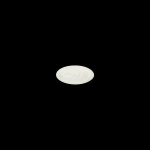 Teller flach mit Fahen, Ø = 12 cm, Delight creme