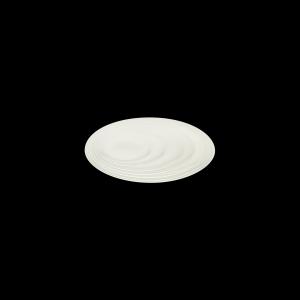 Teller flach coup mit Fahne, Ø = 27 cm, Delight creme