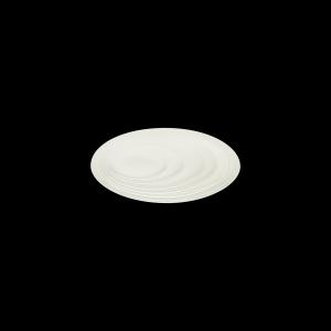 Teller flach coup mit Fahne, Ø = 29 cm, Delight creme