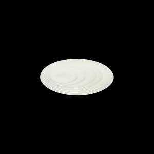 Teller flach coup mit Fahne, Ø = 31 cm, Delight creme