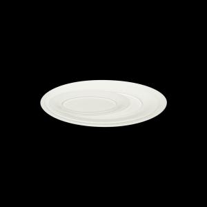 Platte oval, Fahne, 38 cm, Delight creme