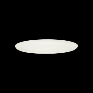 Platte oval coup, Fahne, 45 cm, Delight creme