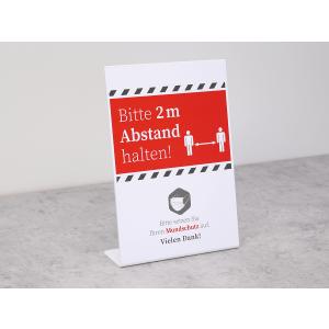 """Hinweisschild / Aufsteller """"Abstand halten + Mundschutz"""""""