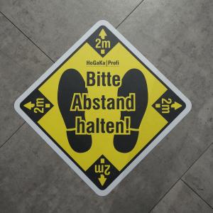 """Fußbodenaufkleber """"Abstand halten"""""""