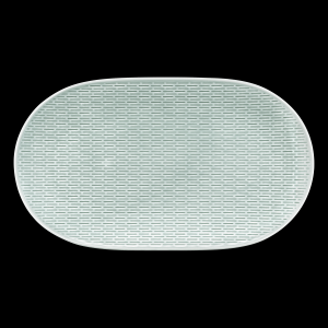 Platte oval coup relief, Länge: 37 cm, scope glow sea