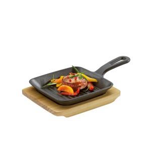 Grill-/ Servierpfanne eckig, Länge: 23 cm