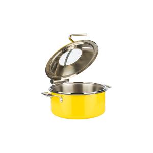 Chafing Dish, 4-tlg. Set, gelb