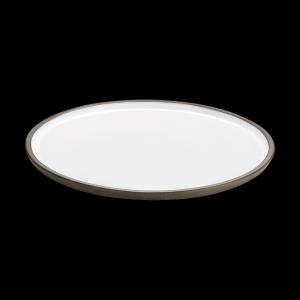 Teller flach, Ø = 28 cm, ReNew, weiß