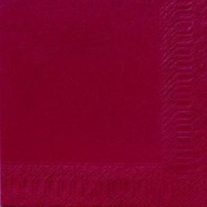 Serviette, Zelltuch, bordeaux, 40 x 40 cm