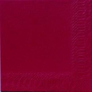Serviette, Zelltuch, bordeaux, 24 x 24 cm