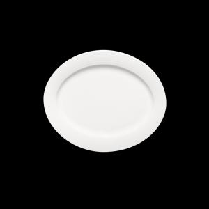 Platte oval mit Fahne, Länge: 32 cm, Dialog