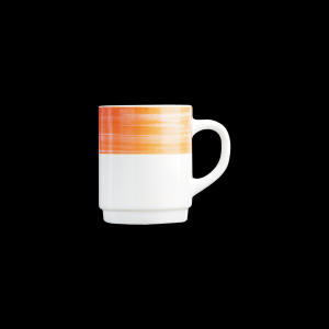 Kaffeebecher, Inhalt: 0,25 l, Brush Orange