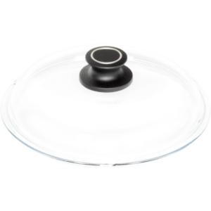 Glasdeckel rund, Ø = 24 cm, mit Knopf