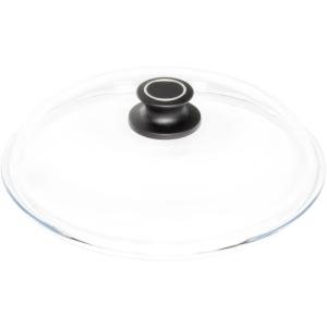 Glasdeckel rund, Ø = 28 cm, mit Knopf