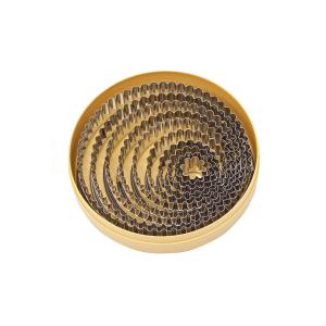 Ausstechersatz rund gezackt, 10-tlg., Ø = 2,2 – 14 cm
