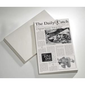 """Wachspapier """"Snack Holder"""", Motiv: Zeitung"""